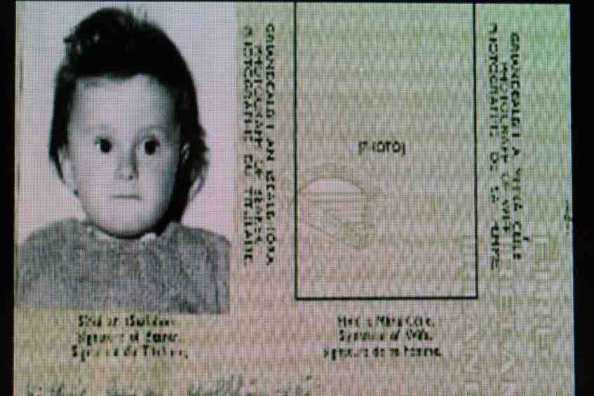 Forged passports of young child sold from Bessborough Mother and Baby home, Cork.
