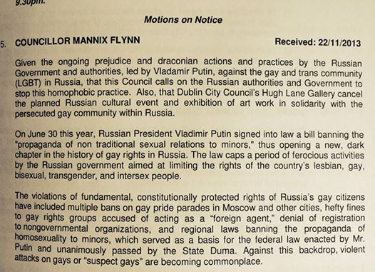 Cllr Flynn Motion May 2014